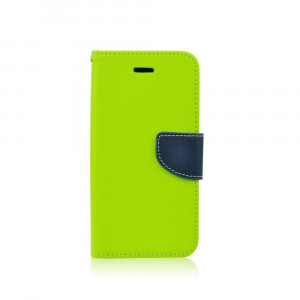 Fancy Book case Nokia 435 lime-navy
