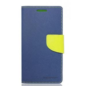 Knižkové bočné púzdro LG 4G modrá látka