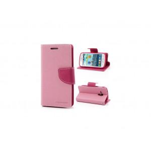 Púzdro Goospery Mercury Fancy Diary Samsung Galaxy Trend Duos ružová látka