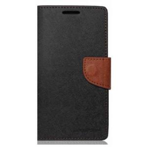 Púzdro Mercury FANCY diary Samsung Galaxy S6 čierno-hnedé