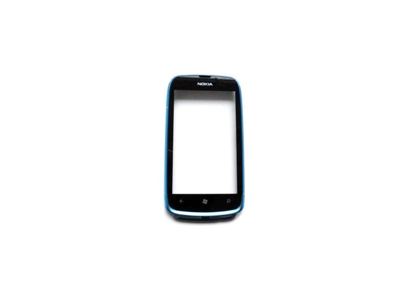 Dotyková doska + predný kryt Nokia Lumia 610 Cyan