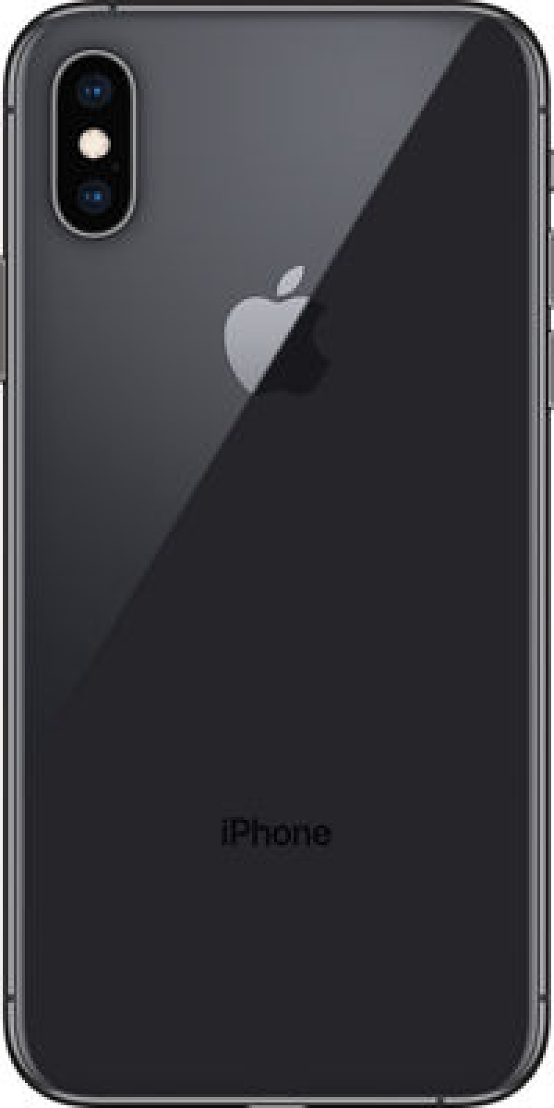 Stredný kryt Apple iPhone Xs Čierny Originál