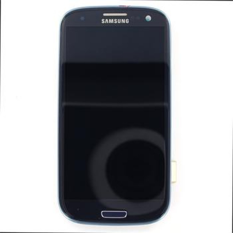 LCD display + Dotyk + Přední kryt Samsung i9300 Galaxy S3 Blue (Service Pack)