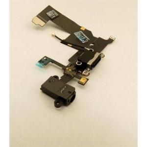Dobíjecí + Audio Konektor - Flex Kabel iPhone 5 Black