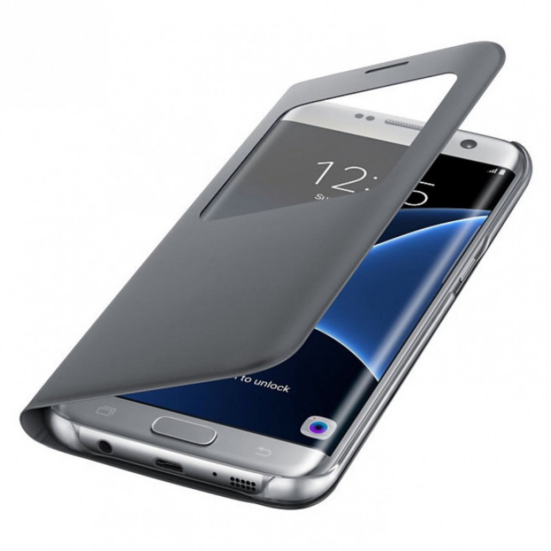 EF-CG935PSE Samsung S-View Pouzdro Silver pro G935 Galaxy S7 Edge (EU Blister)