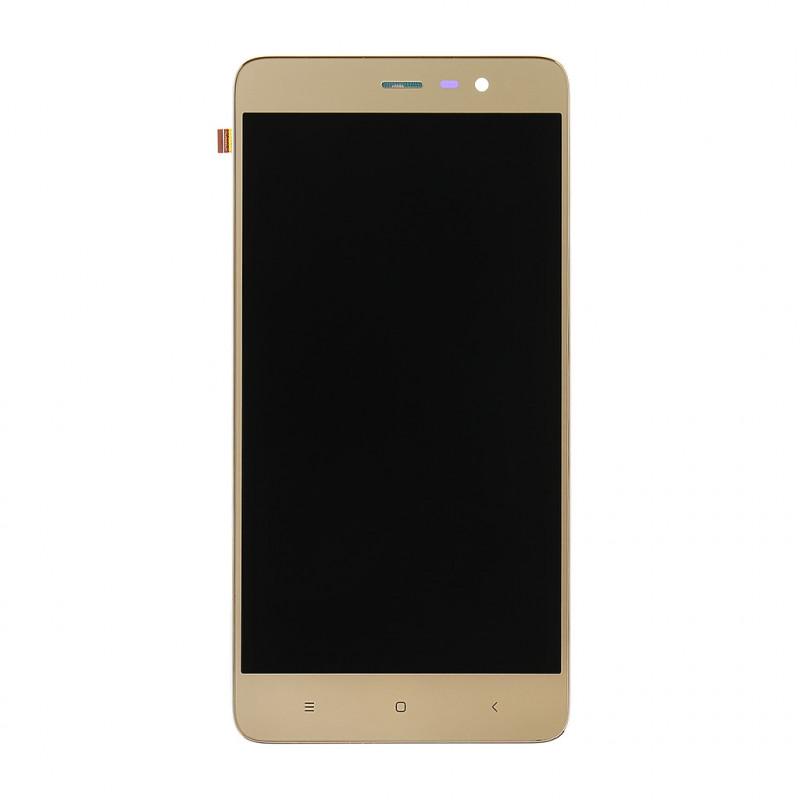 LCD Display + Dotyková Deska + Přední Kryt pro Xiaomi RedMi Note 3 SE (152mm) Gold