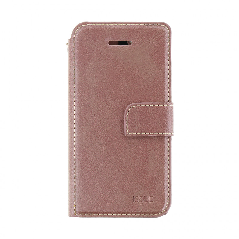 Molan Cano Issue Book Pouzdro pro iPhone X/XS Rose Gold