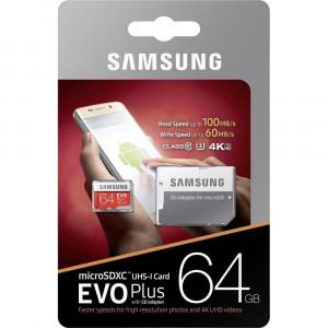 Samsung  microSDXC 64GB EVO Plus Class 10 vč. Adapteru (EU Blister)