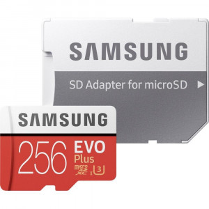 microSDXC 256GB EVO Plus Samsung Class 10 vč. Adapteru (EU Blister)