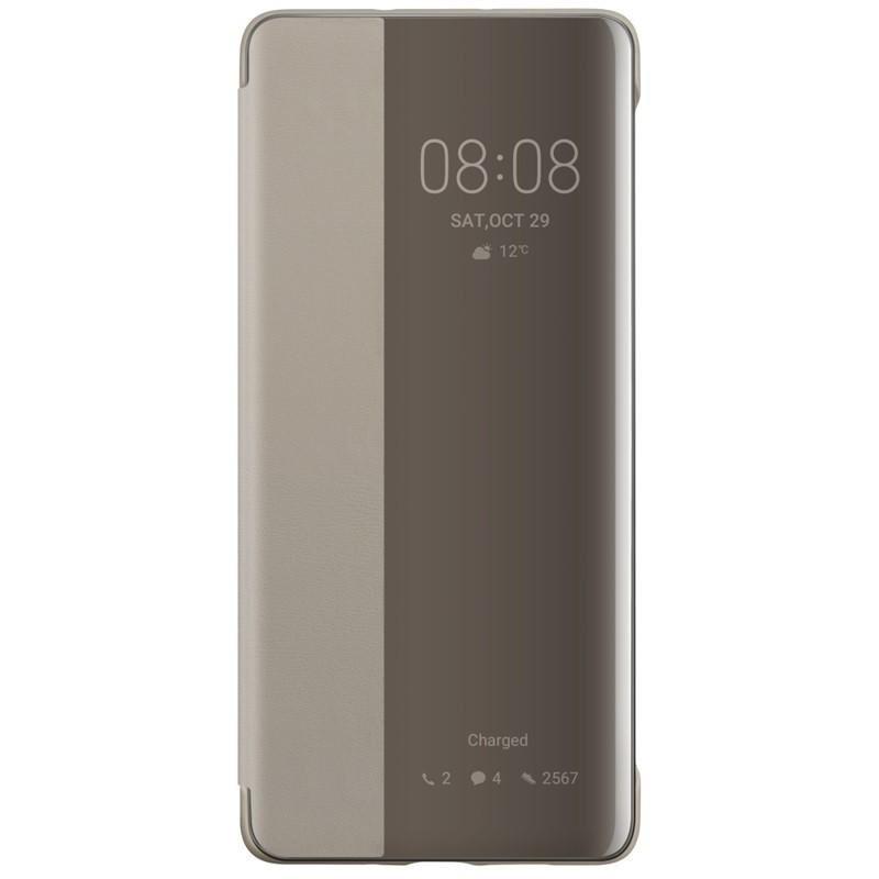 Huawei Original S-View Pouzdro Khaki pro Huawei P30 Pro (EU Blister)