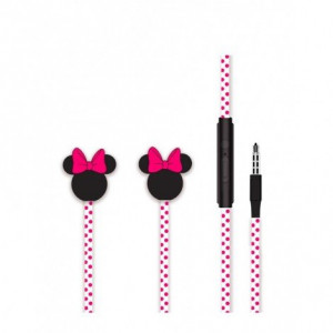 Disney Stereo Sluchátka 3.5mm Minnie Matt Pink 3D