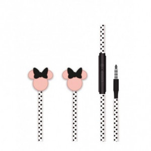 Disney Stereo Sluchátka 3.5mm Minnie Matt Black 3D