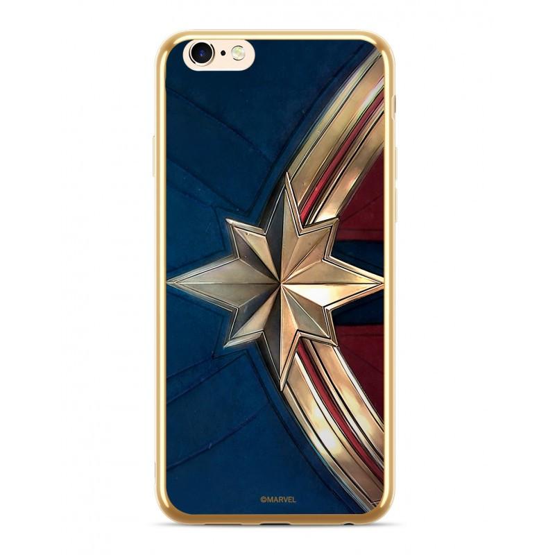 MARVEL Captain Marvel 001 Kryt pro iPhone XS Gold