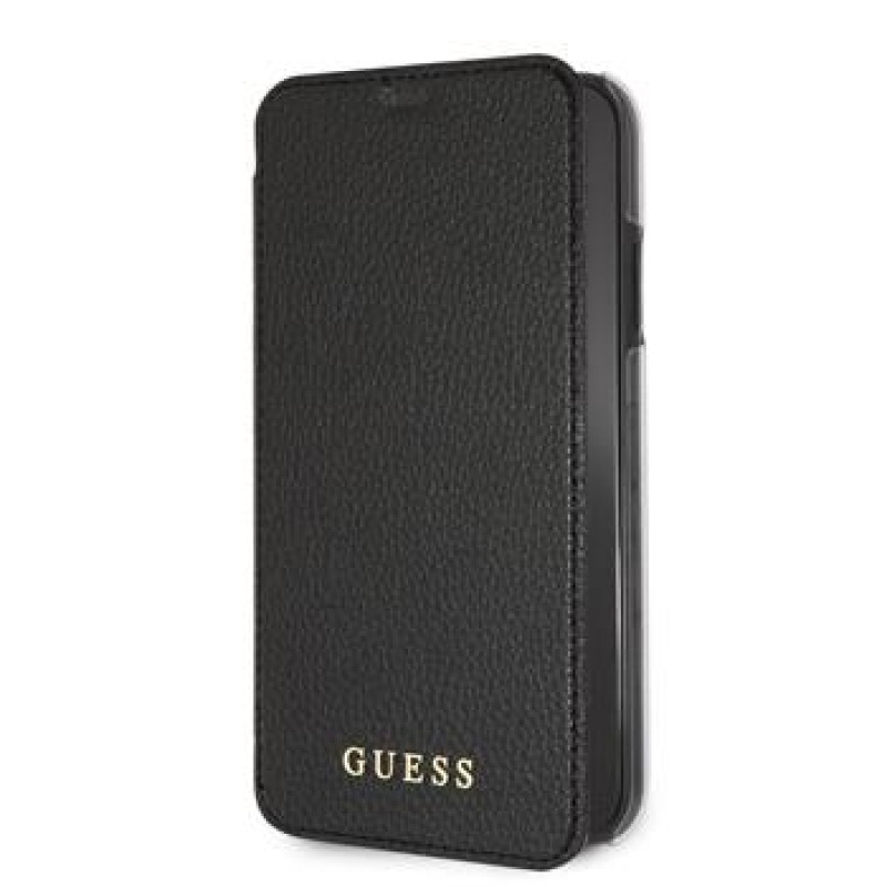 GUFLBKI61IGLBK Guess PU Leather Book Case Iridescent Black pro iPhone XR