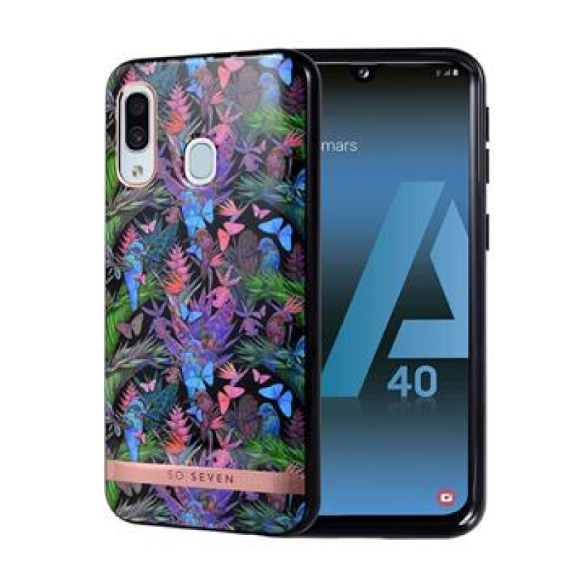 SoSeven Coque Phuket Silikonový Kryt pro Samsung Galaxy A40 Tropical Noir (EU Blister)