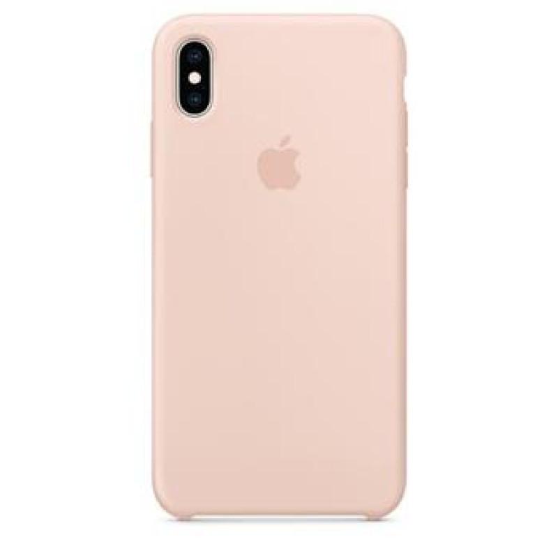 MTFD2ZM/A Apple Silikonový Kryt pro iPhone XS Max Pink Sand