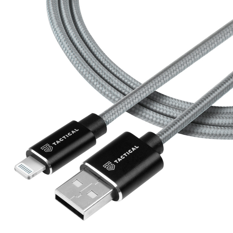 Tactical 029 Fast Rope Kevlar Cable USB-A/Lightning MFI  2m Grey