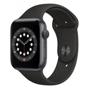 Apple Watch Series 6 GPS + Cellular 44 mm, Grey Aluminium Case with Black Sport Band