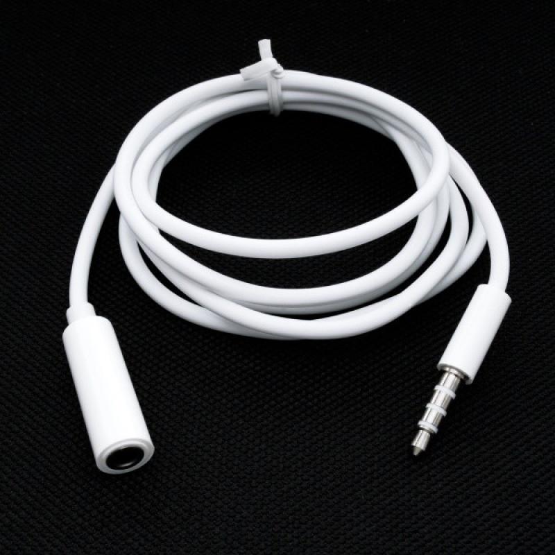 Biely predlžovací kábel, 3.5mm jack