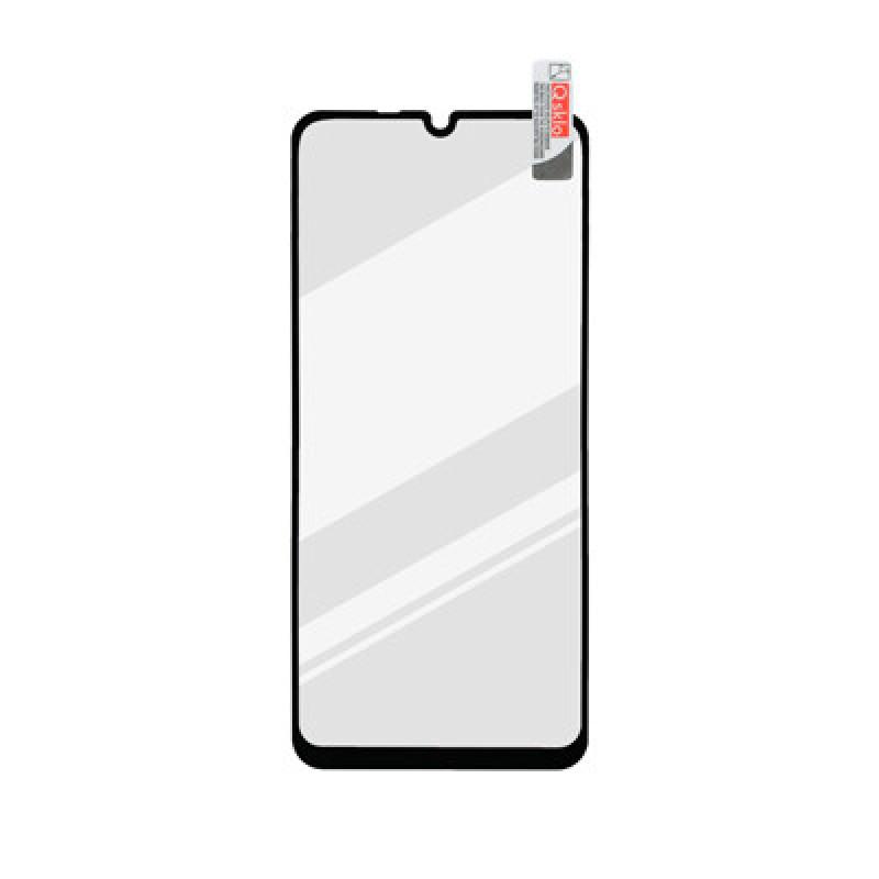 Huawei Y8P čierna sklenená fólia Full Glue, Q Sklo