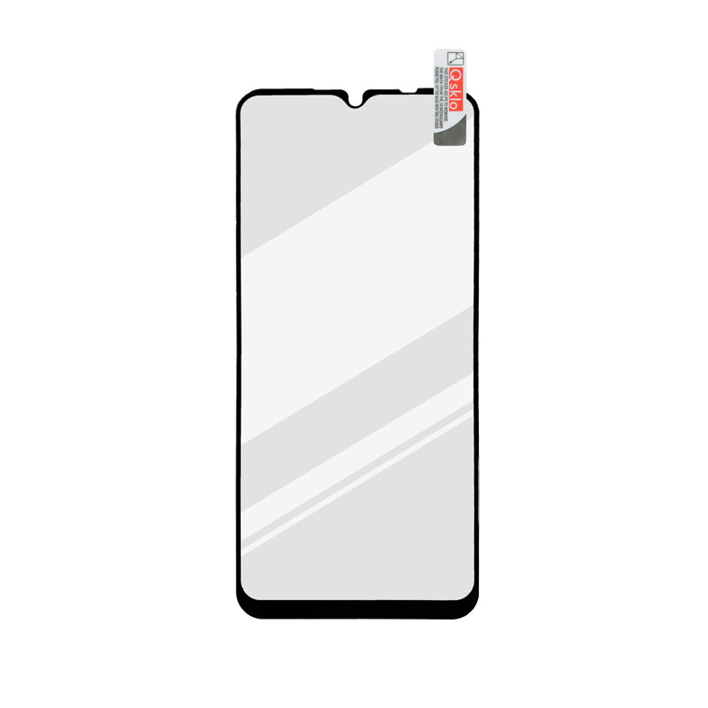 Xiaomi Redmi 9C čierna sklenená fólia Full Glue, Q Sklo