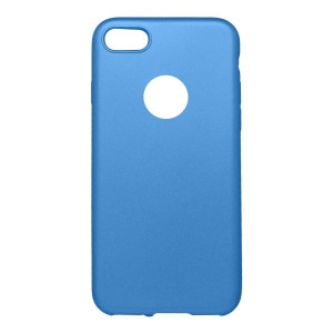 Gumené puzdro metalické iPhone 7 modré