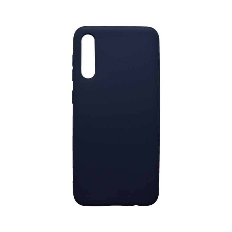 Matné gumené puzdro Samsung Galaxy A50 tmavomodré