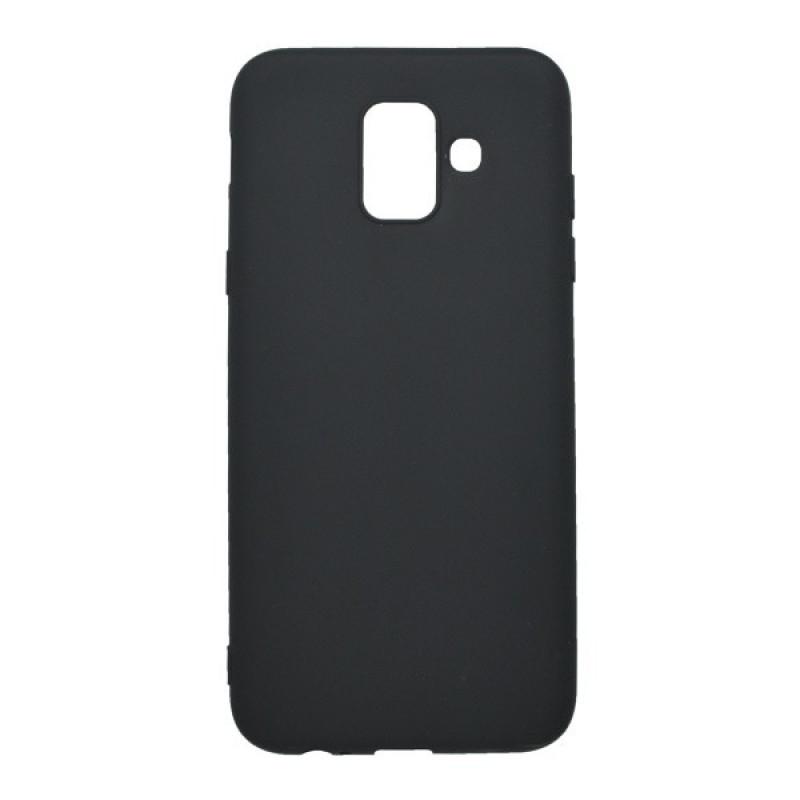Matné gumené puzdro Samsung Galaxy A6 čierne