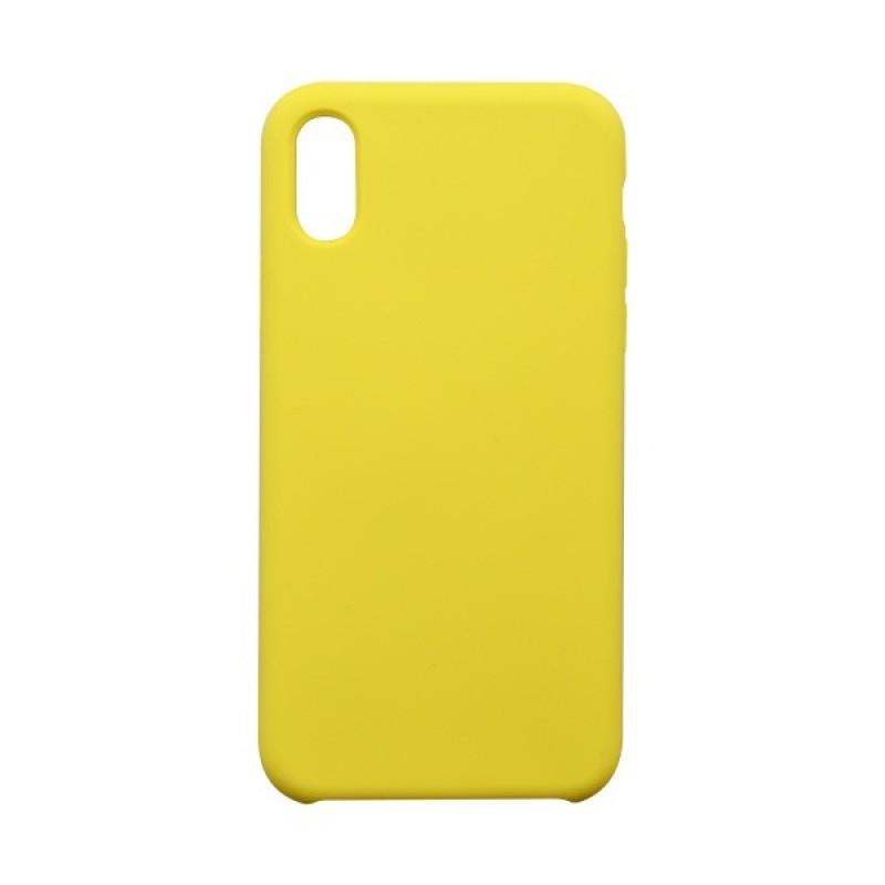 Ochranný kryt Silicon iPhone XS žltý