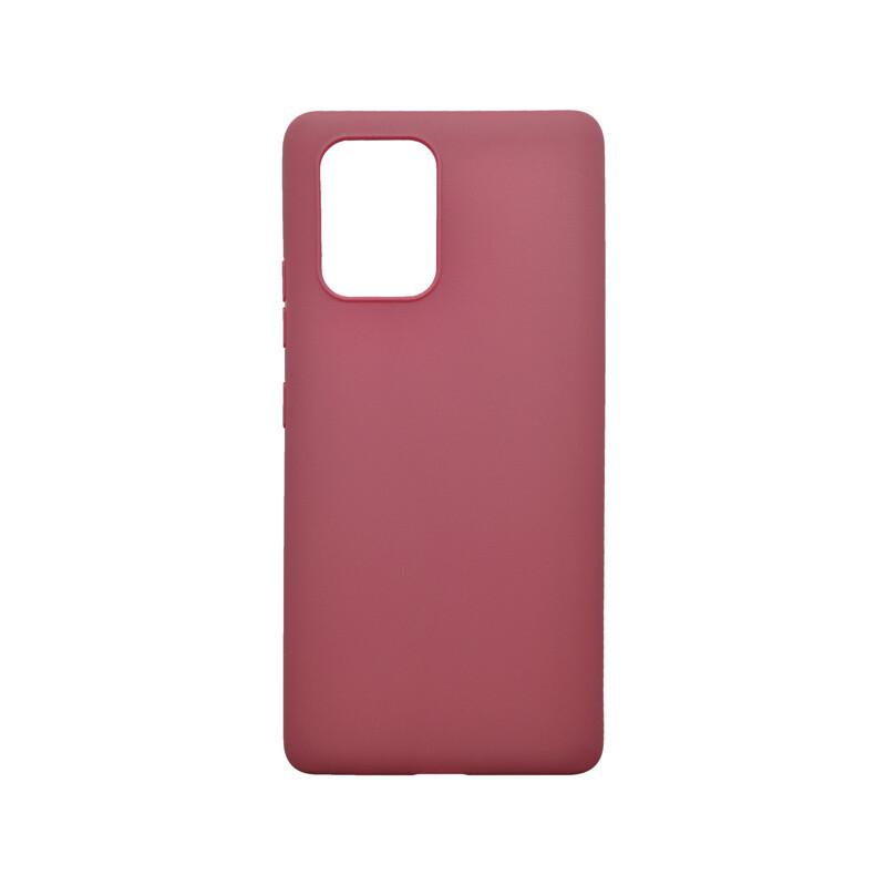 Matné silikónové puzdro Samsung Galaxy S10 Lite bordové