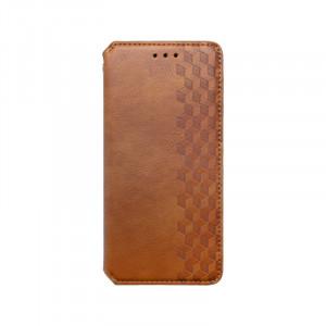 Samsung Galaxy A32 LTE bočná knižka vzorovaná, hnedá
