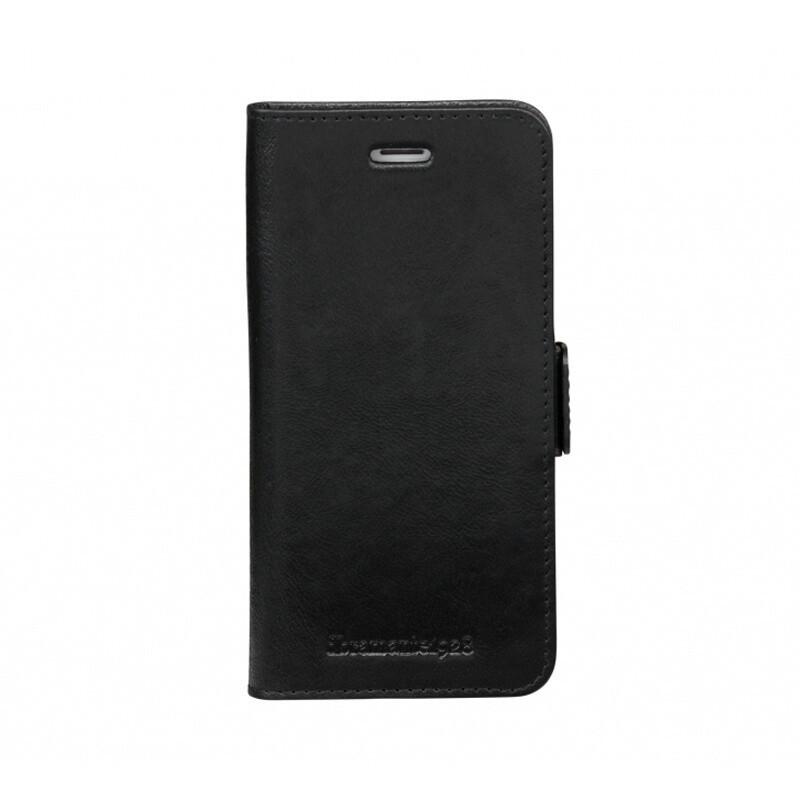 iPhone 7/8 Lynge kožené puzdro 2v1 dbramante, čierna