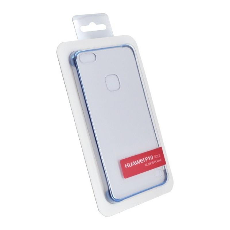 Plastové puzdro Huawei P10 Lite Warsaw transparentné, modrý rám