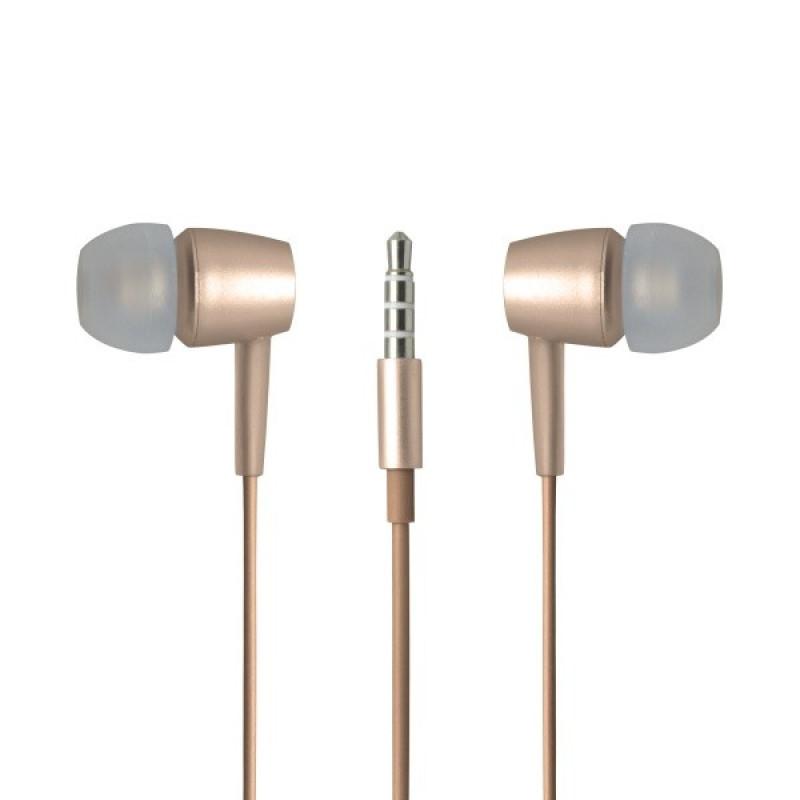 Slúchadlá Meta Earphoness zlaté, 3,5 mm audio jack