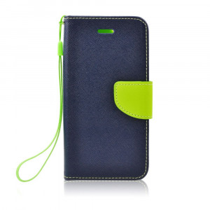 Fancy Book case pre Huawei P8 Lite 2017/ P9 lite 2017 navy-lime