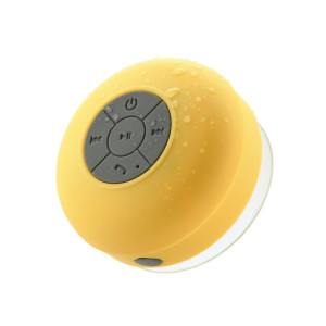 Waterproof 3W bluetooth speaker + radio + suction cup YELLOW