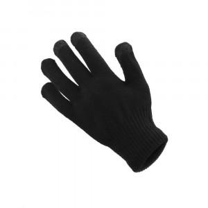 Rukavice na dotykový displej dámske black 18x11 cm